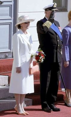 2007- The Norwegian royal couple during welcoming ceremonies in Helsinki.  Here's the queen arriving at a luncheon held in the Norwegian royals' ...