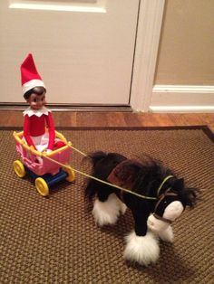 The Elf on the shelf | Elf on a pony ride