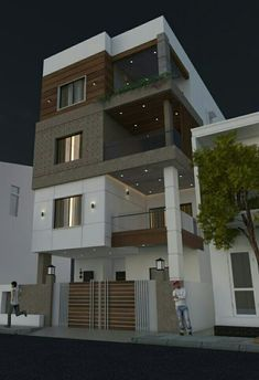 Most 50 Beautiful House Design For 2020 - Engineering Discoveries Unique House Design, House Front Design, Minimalist House Design, Cool House Designs, Modern Exterior, Exterior Design, Architecture Building Design, Residential Architecture, South Facing House