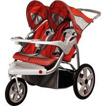 Walmart: InStep - Safari Double Jogging Stroller, Red $140.45