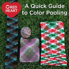 A Quick Guide to Color Pooling -- Have you ever truly wanted to feel like a magician with your crochet hooks? Get ready to amaze your friends, and family when you play with variegated yarn. Color pooling (also called yarn pooling) has ta Crochet Scarves, Crochet Yarn, Crochet Stitches, Crochet Hooks, Free Crochet, Crotchet, Learn Crochet, Quick Crochet, Crochet Trim