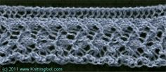French Lace Edging - Knittingfool Stitch Detail