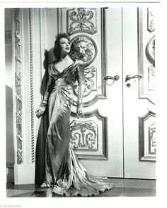 Loretta Young Beautiful Gown Superb 1930s Columbia Studio Fashion Portrait Photo (10)