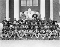 College Football Team, Howard University | 1934 National Museum of American History, Smithsonian Institute. Addison Scurlock, photographer. Vintage African American photography courtesy of Black History Album, The Way We Were.