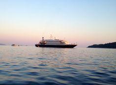 Sunset with SeaDream II in Croatia