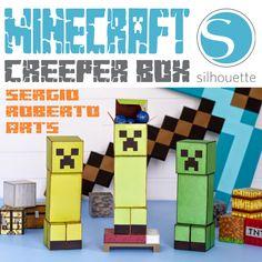 minecraft silhouette studio corte manual pdf festa aniversario lembrancinha centro de mesa guloseima personalizados