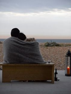 Young couple enjoying each others company at the beach