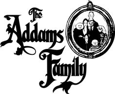 The Addams Family logo and a portrait by Chas Addams The Addams Family, Addams Family Cartoon, Addams Family Characters, Adams Family, Family Logo, Family Set, Family Poster, Family Photo Album, Family Photos