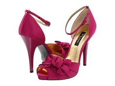 754cd9cf8b1 Found my shoes!!! Nina Electra Fuchsia Luster Satin - Zappos.com Free