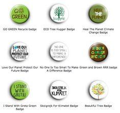 Climate Change Environment EXTINCTION REBELLION Orange 25mm Button Badge