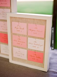 Neato! - escort cards | CHECK OUT MORE IDEAS AT WEDDINGPINS.NET | #weddings #escortcards #weddingescortcards #coolideas #events #forweddings #ilovecards #romance #beauty #planners #cards #weddingdecorations