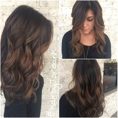 Dark chocolate Balayage #brunette #balayage #hairpainting #hairbyJordanK