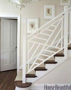 Image result for modern nantucket stair railings