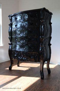 Fabulous and Baroque — Fabulous & Rococo 6 Drawer Tallboy Baroque Furniture, Baroque Decor, Modern Baroque, Dream Furniture, Black Furniture, Furniture Decor, Rustic Furniture, Outdoor Furniture, Bedroom Furniture