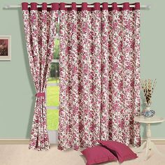 Printed Cotton Eyelet Curtain - FabFurnish.com #DiwaliDecor #FabFurnish