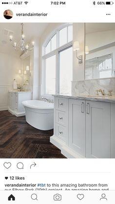 Dark floor white cabinet whitish counter