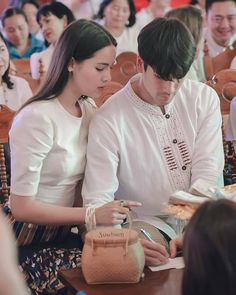 with jin oppa Photo Poses For Couples, Couple Photoshoot Poses, Mark Prin, Thai Drama, Sweet Couple, Celebrity Couples, Actresses, Actors, Celebrities