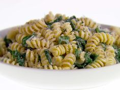Fusilli with Pecorino Romano and Black Pepper recipe from Giada De Laurentiis via Food Network