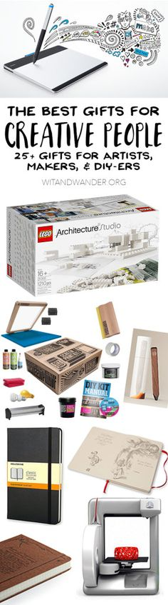 The Absolute Best Gifts for Creative People: Artists, Makers, and DIYers - Wit & Wander