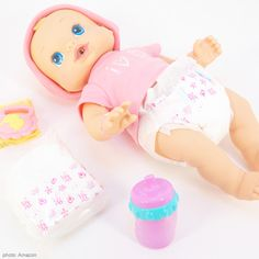 Baby Alive Clothes With Diapers Bottle And Other