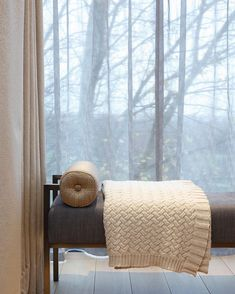 Soft furnishings really do make a home. Here we have paired a bolster cushion and neutral throw to this bench. A cosy little spot to take a…