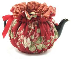 Annie's Tea Time: Holiday Red Tea Cozy 6 Cup Thistledown