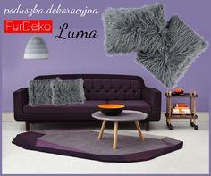 Połączenie odcieni fioletu i szarości w aranżacji wnętrz  HOT or NOT? Poduszka LUMA --> http://bit.ly/1QkDhqX   www.FurDeko.pl