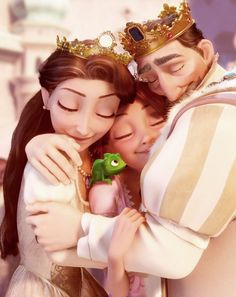 Rapunzel and her parents - Once upon a dream✨