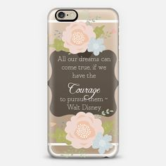 Courage and Dreams Walt Disney Motivational Graduation - Classic Snap Case
