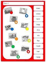 Piccolo- / knijpkaarten Veilig Leren Lezen KIM Kern 1 Spelling, Letters, Education, Charlotte, Letter, Lettering, Onderwijs, Learning, Games