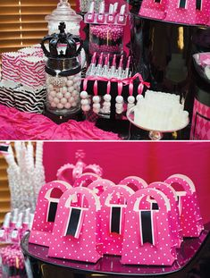 Favor Bags and Candy Bar for Sweet 16