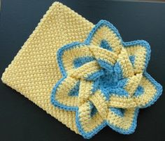 Flower Hot Pad -crochet free pattern