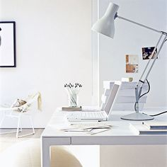 modern home offices white