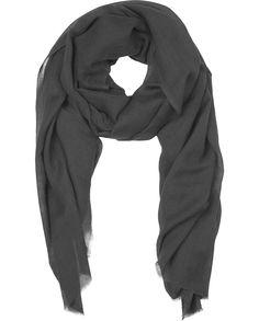 "Naledi Copenhagen ""Big Smoke"" scarf - smoky, rich, perfect Scandinavian dark grey"