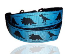 Blue Dinosaur Themed Dog Collar From £12