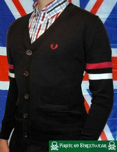 Awesome Fred Perry button-up women's sweater