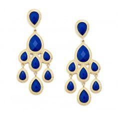 Oversized Chandelier Earring - Cobalt