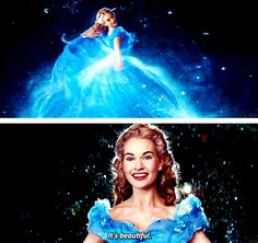I agree totally with Cinderella! The dress looked like it was made of water during the transformation: amazing CGI work New Cinderella Movie, Cinderella Live Action, Cinderella Disney, Cinderella Dresses, Cinderella Pictures, Disney Princesses, Disney Love, Disney Magic, Ben Chaplin