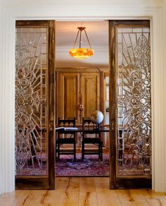 Sliding Stained Glass Doors