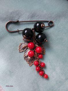 Собираем ягодную гроздь «Смородина» из натуральных камней на брошь-булавку: публикации и мастер-классы – Ярмарка Мастеров