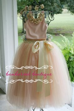flower girl tutu flower girl dress tulle by BambaroosBoutique, $150.00