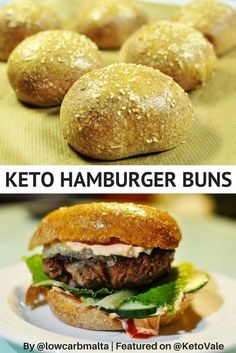 The Best Low Carb Keto Bread for Buns and Rolls Recipe - A must-try recipe for ketogenic diet! #ketobread #lowcarbbread #ketobuns
