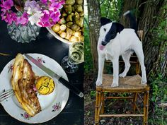 Grilled ventrèche (pig flank/ pork belly) (for 4)  For this recipe, we grilled them over a sarment vine branches barbecue.  8 slices of ...
