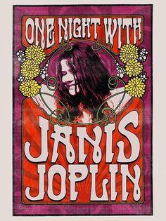 Janis Joplin - One Night With Janis Joplin - Mini Print