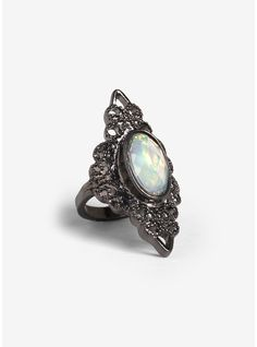 Iridescent Stone Ring | Hot Topic