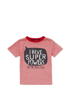 Clothing at Tesco | F&F Super Hero Narrow Stripe T-Shirt > tops > Tops & T-shirts > Younger boys