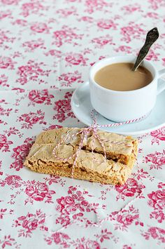 Biscoff Biscotti Recipe - the perfect treat to go alongside your morning cup of coffee! From @DineandDish