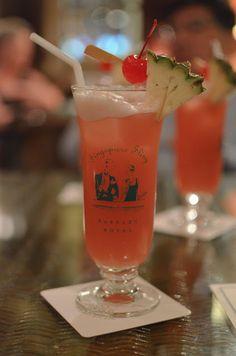 World Famous Singapore Sling (national cocktail of Singapore ) @ Raffles Singapore