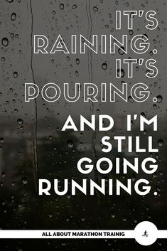 in the Rain + Running Rain Gear Best time to go.♡Best time to go. Running Rain Gear, Running In The Rain, Running Workouts, Running Tips, Running Memes, Trail Running, Funny Running Quotes, Jogging Quotes, Training Quotes