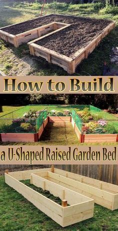 Tips How to Build a U-Shaped Raised Garden Bed. Creating your own home garden is not always an easy task, but with this DIY U-Shaped garden, it will be easy... #GardenBed #Garden #diy #gardening #raisedgardenbeds #raisedgardens #gardenbeds